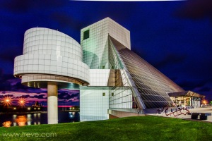 Rock and Roll Hall of Fame designed by architect I. M. Pei