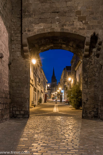 Town gate at Cadillac, near Bordeaux