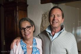 Mr et Mme de Rochefort. Our hosts at La Maison Rose in Origne