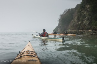 Paddling Tomales Bay in the fog.