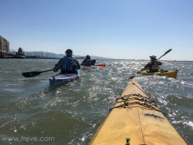 On the water. BASK Thursday Lunch Paddle March 30, 2017.