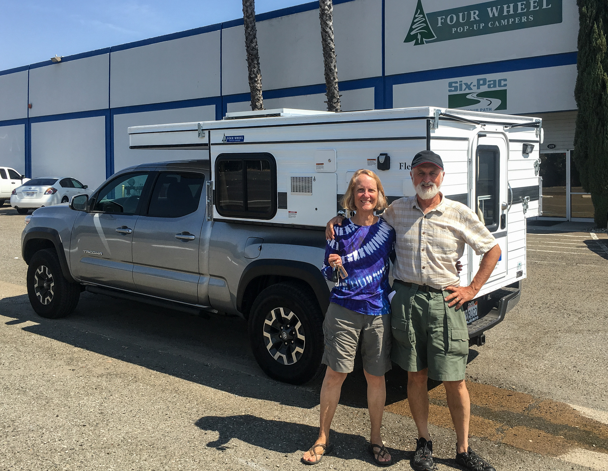 Treve and Joann with their new Four Wheel Camper