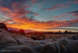 Sunrise on Christmas Day. Alabama Hills
