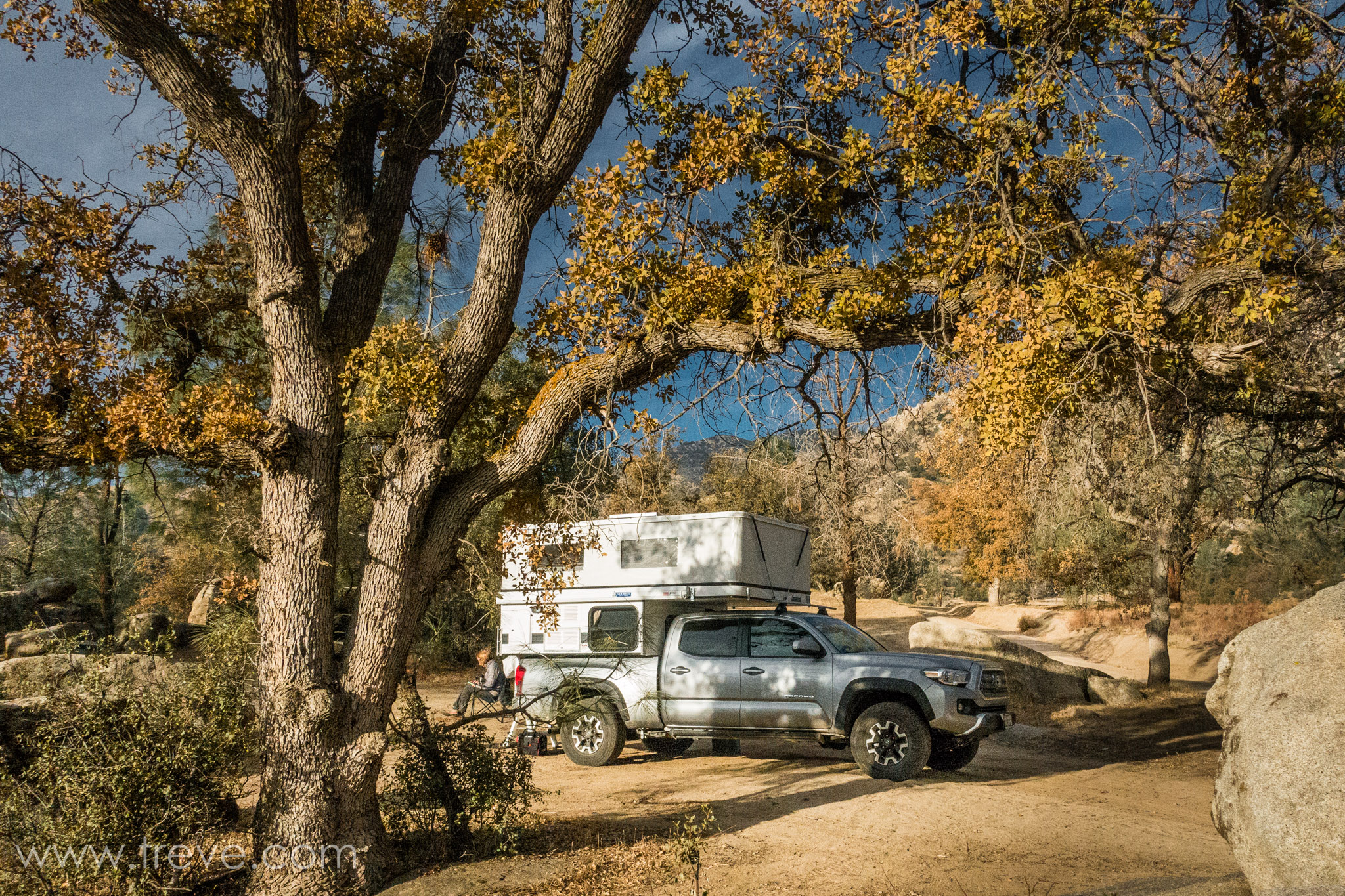 Our camp at Keyesville Special Recreation Management Area (SRMA)