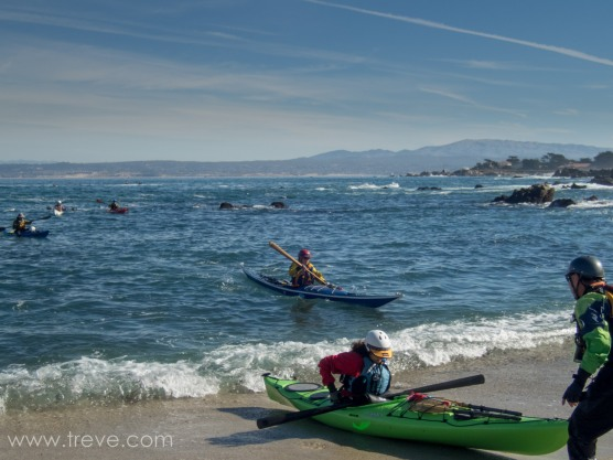 Paddling on Monterey Bay. Landing at Lover's Point.