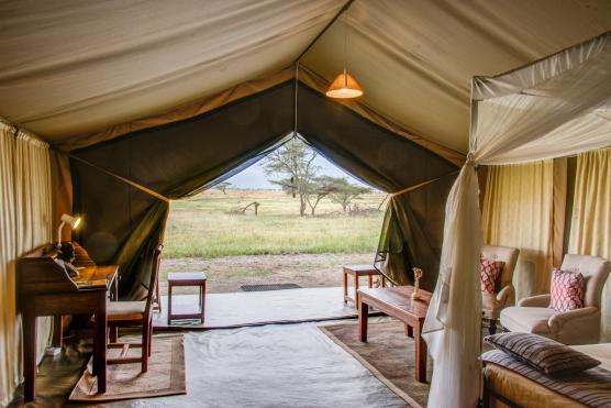 Our tent at Seronera Sametu Camp