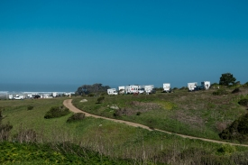 Four Wheel Campers at Chanslor Ranch. Bodega Bay.