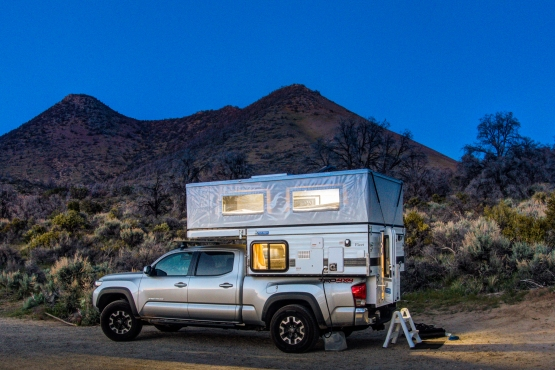 Our Four Wheel Pop-up camper at Walker Pass Campground.