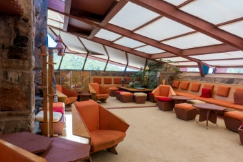 Living room of Frank Lloyd Wright's house at Taliesin West