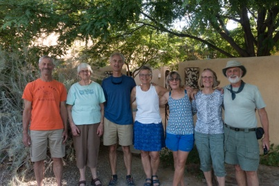 Family at Butterfly House. Rancho Jacona