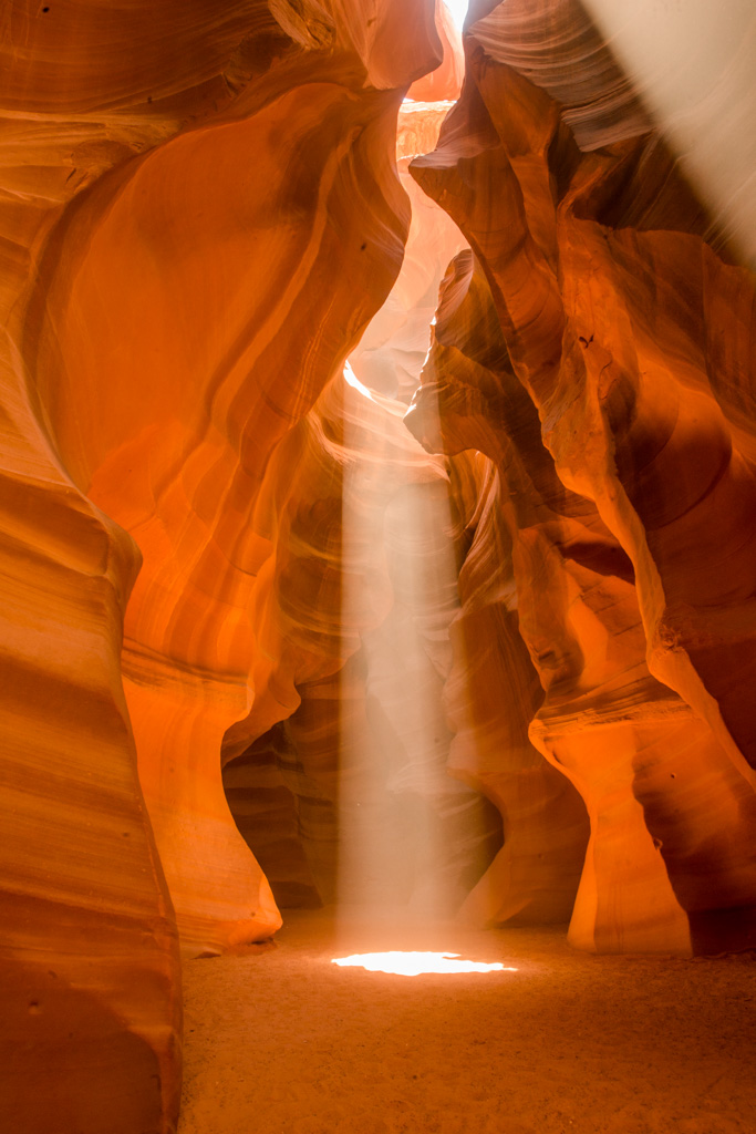 Sunbeams. Antelope Canyon