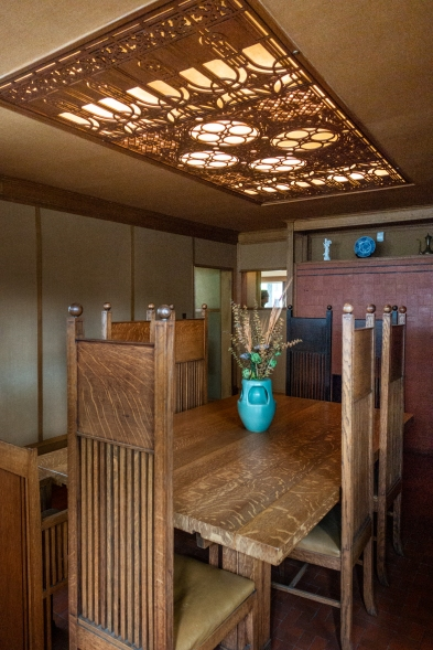 Dining room. Frank Lloyd Wright's Oak Park house.