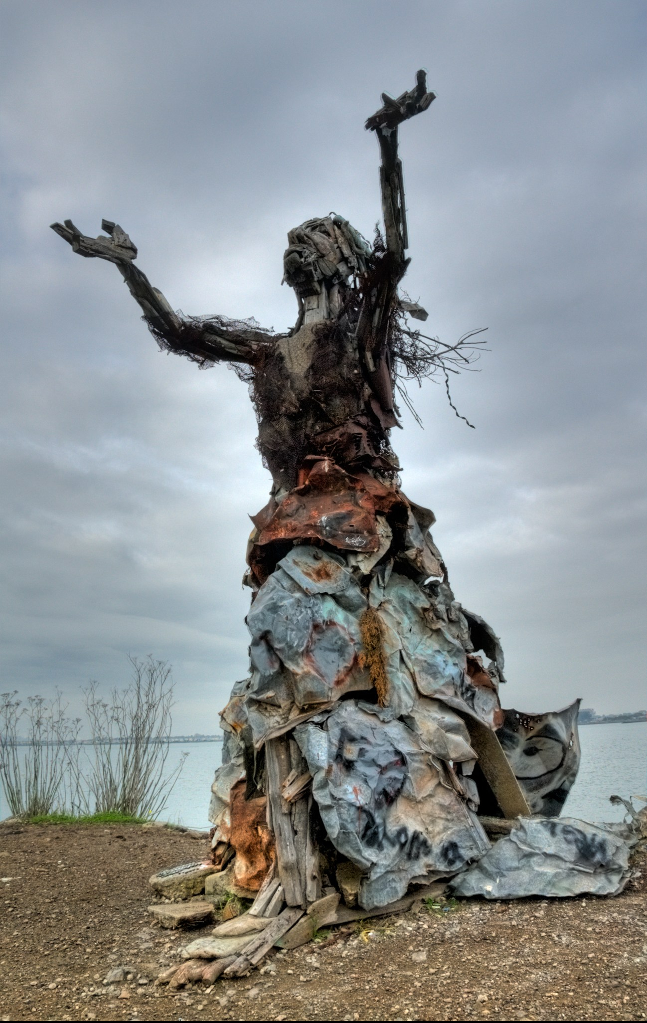 Art from recycled material at the Albany Bulb, a former landfill site.